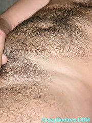 Hairy gay undergoes hot inspection